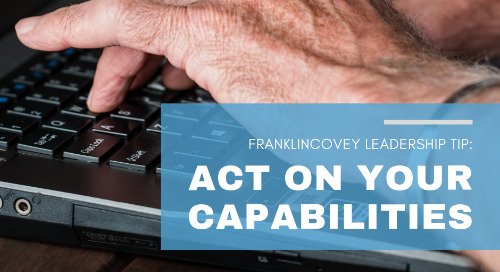 Act on Your Capabilities