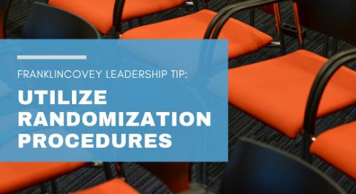 Utilize Randomization Procedures