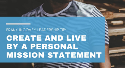 Create and Live By a Personal Mission Statement