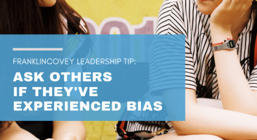 Ask Others If They've Experienced Bias