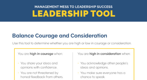 Balance Courage and Consideration - Tool