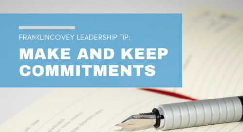 Make and Keep Commitments