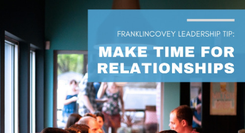 Make Time for Relationships