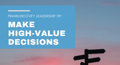 Make High-Value Decisions