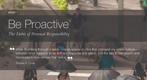 Habit 1: Be Proactive®