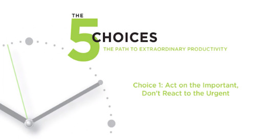 Choice 1: Act on the Important, Don't React to the Urgent