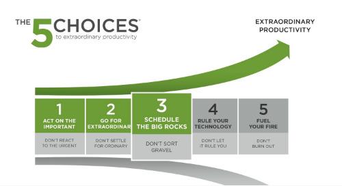 Choice 3: Schedule the Big Rocks