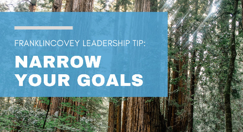 Narrow Your Goals