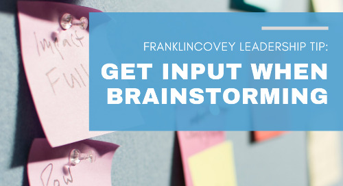 Get Input When Brainstorming