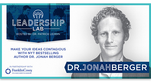 Make your ideas contagious with NYT bestselling author Dr. Jonah Berger