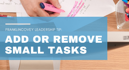 Add or Remove Small Tasks
