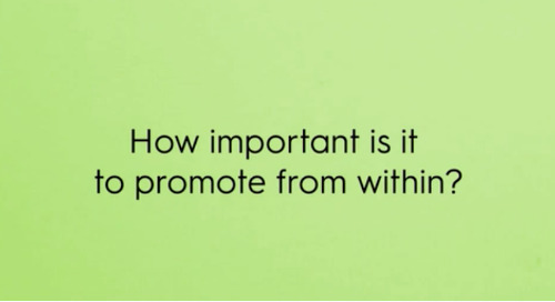 How important is it to promote from within?