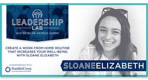Create a work from home routine that increases your well-being with Sloane Elizabeth