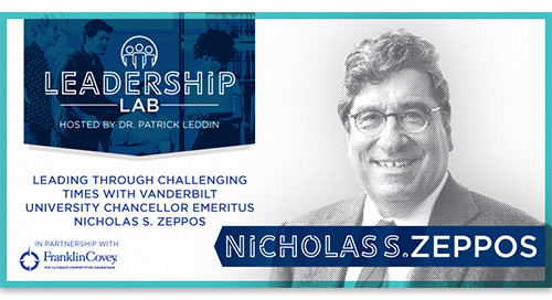 Leading in challenging times with Vanderbilt Chancellor Emeritus Nicholas S. Zeppos