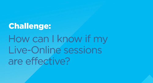 How can I know if my Live-Online sessions are effective?