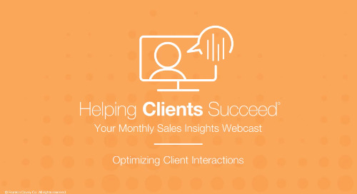 Optimizing Client Interactions - On Demand Webcast