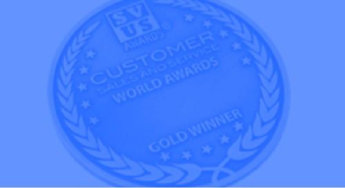 Vibes Honored as Gold Winner in the Annual 2018 Customer Sales and Service World Awards® for Customer Service Team of the Year
