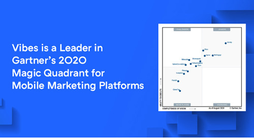 Vibes Named a Leader for Second Straight Year in Gartner Magic Quadrant for Mobile Marketing Platforms