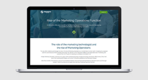 Rise of the Marketing Operations Function Interactive White Paper