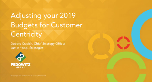 Adjusting Your 2019 Budget for Customer Centricity