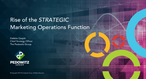 The Rise of the Strategic Marketing Operations Function