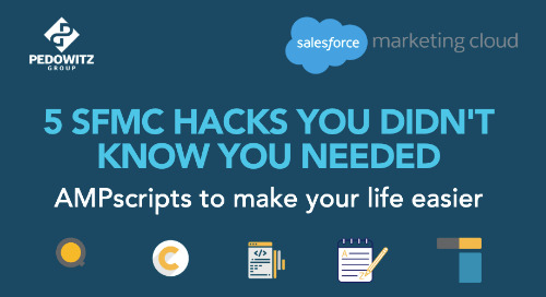 5 SFMC Hacks You Didn't Know You Needed
