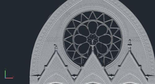 El icónico Music Hall de Cincinnati recibe un escaneo láser en primer plano
