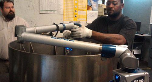 Goldens' Foundry reduce los tiempos de inspección en más de un 90% utilizando FARO ScanArm