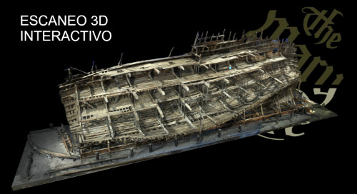 El buque de guerra Mary Rose capturado con escaneo láser 3D