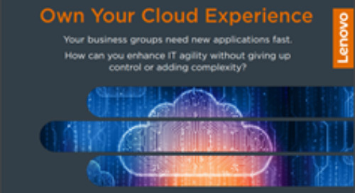 Own Your Cloud Experience with Lenovo ThinkAgile CP Series