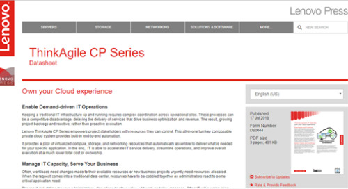 ThinkAgile CP Series Datasheet