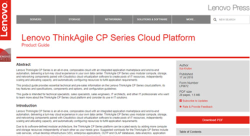 ThinkAgile CP Series Product Guide