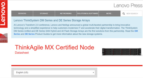 ThinkAgile MX Certified Node Datasheet