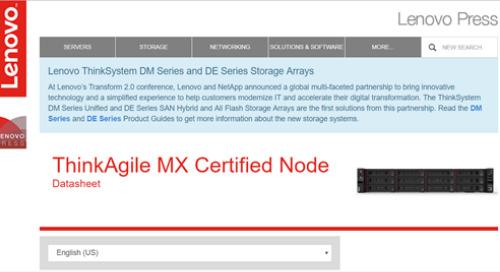 ThinkAgile MX Certified Node Datasheet