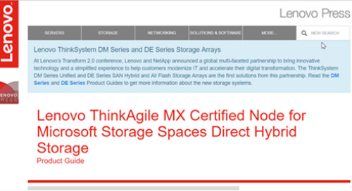 ThinkAgile MX Certified Node Product Guide