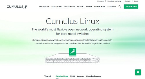 Cumulus Linux product site
