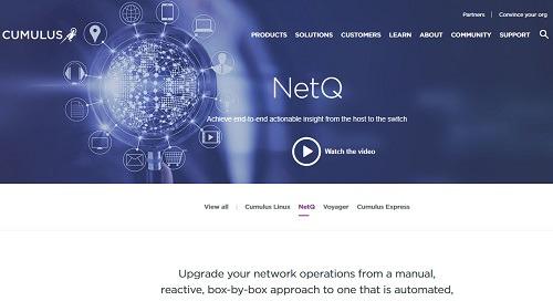 Cumulus NetQ product site