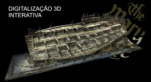 O navio de guerra Mary Rose capturado com scanner laser 3D