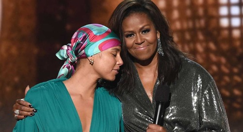 Michelle Obama Builds on Storytelling Theme at Grammys