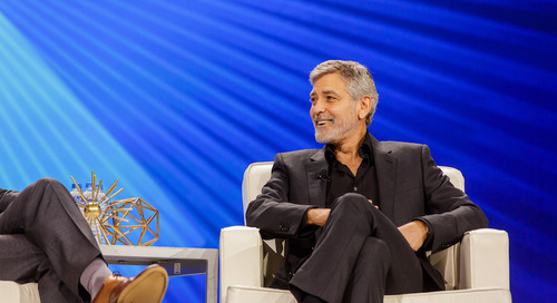 George Clooney: 'Challenge power and protect the powerless'