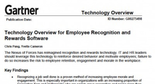 Gartner's New Report on Recognition Technology