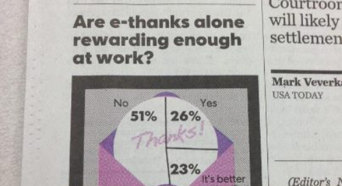Thank You Very Little: Why e-Thank Yous Really Don't Work