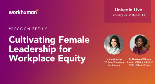 Cultivating Female Leadership for Workplace Equity – LinkedIn Live