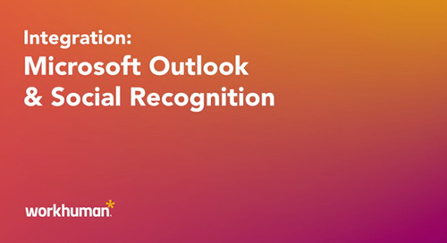 Demo: Social Recognition® and Outlook Integration