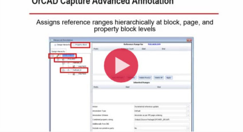 OrCAD 17.2 Capture Advanced Annotation