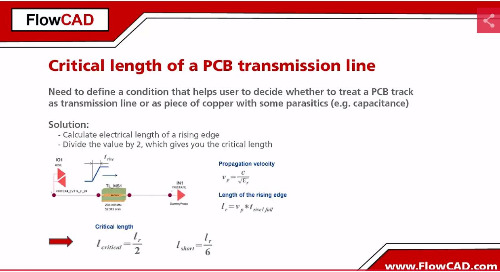 Critical length of a PCB transmission line