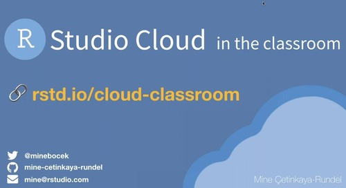 RStudio Cloud in the Classroom