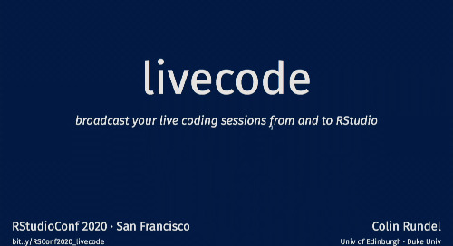 `livecode`: broadcast your live coding sessions from and to RStudio - Colin Rundel - Lightning Talk