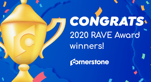 Announcing the 2020 Cornerstone RAVE Award Winners