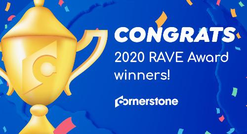 Cornerstone annonce les lauréats des RAVE Awards 2020